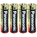 Panasonic Industrial LR6XWA AA 1.5V Alkaline Button Top Batteries - 4 Pack Shrink Wrap
