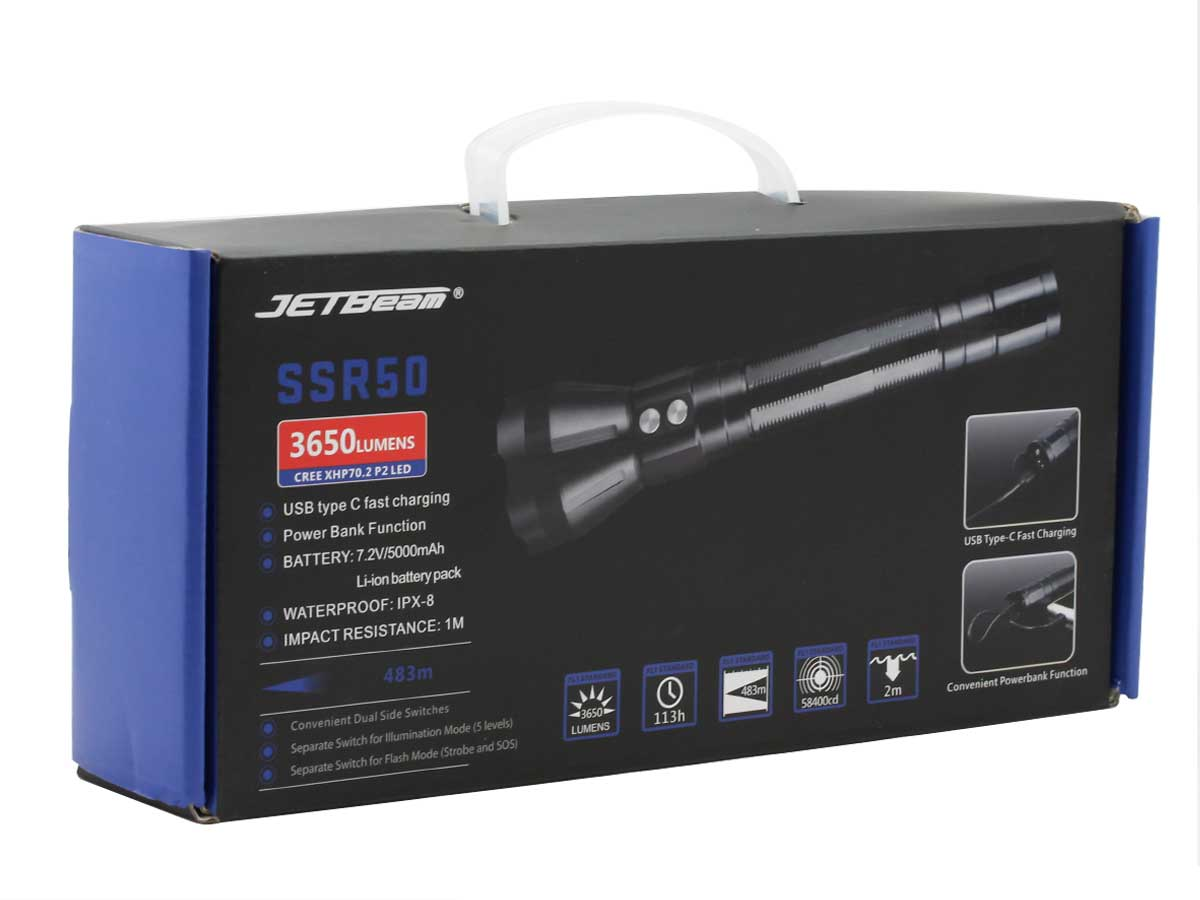 Jetbeam SSR50 power bank function