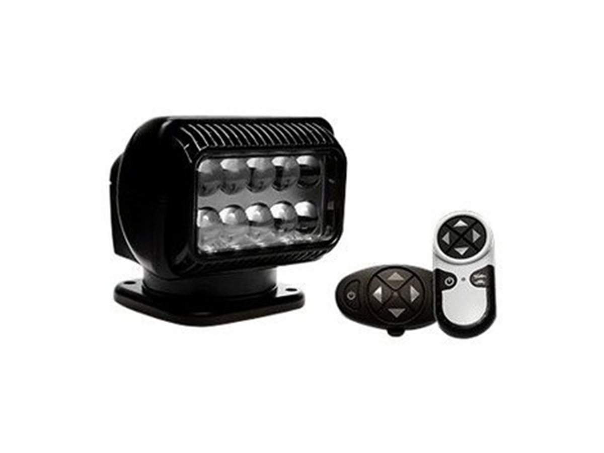 black golight permanent mounted halogen radioray with remotes