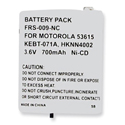 Empire FRS-009-NC 700mAh 3.6V Replacement Nickel-Cadmium (NiCd) Battery Pack for Motorola 53615 2-Way Radio