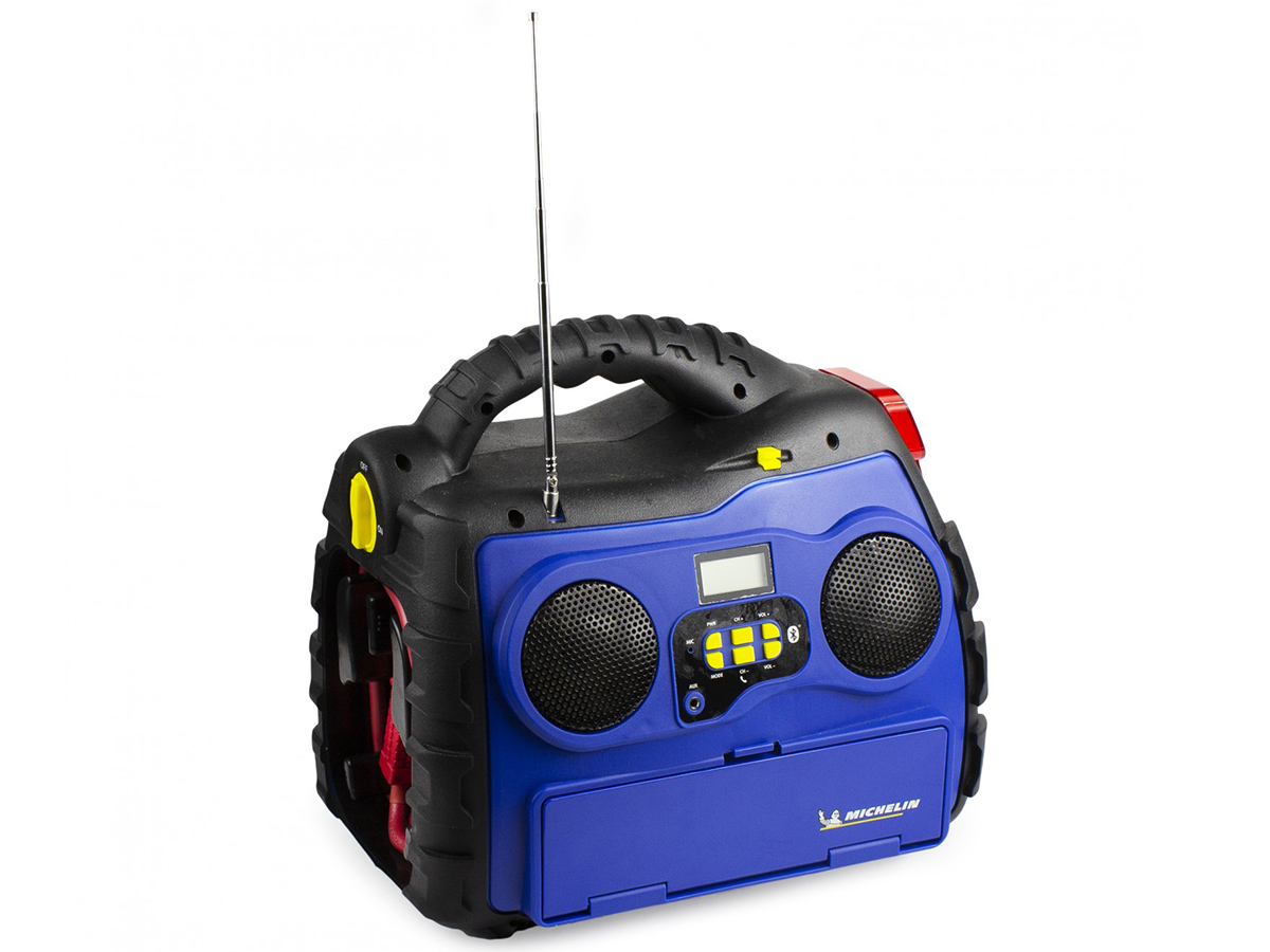 Michelin Multi-Function Portable Power Source with antenna up