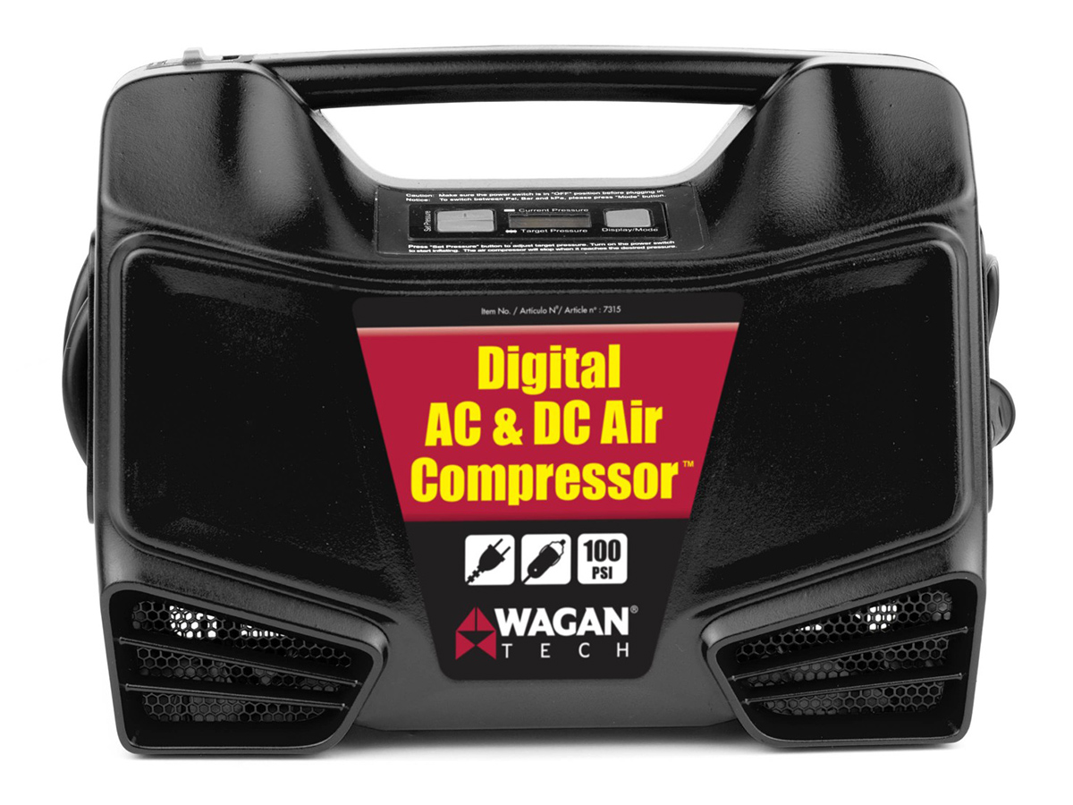 AC/DC Digital Air Compressor front of product