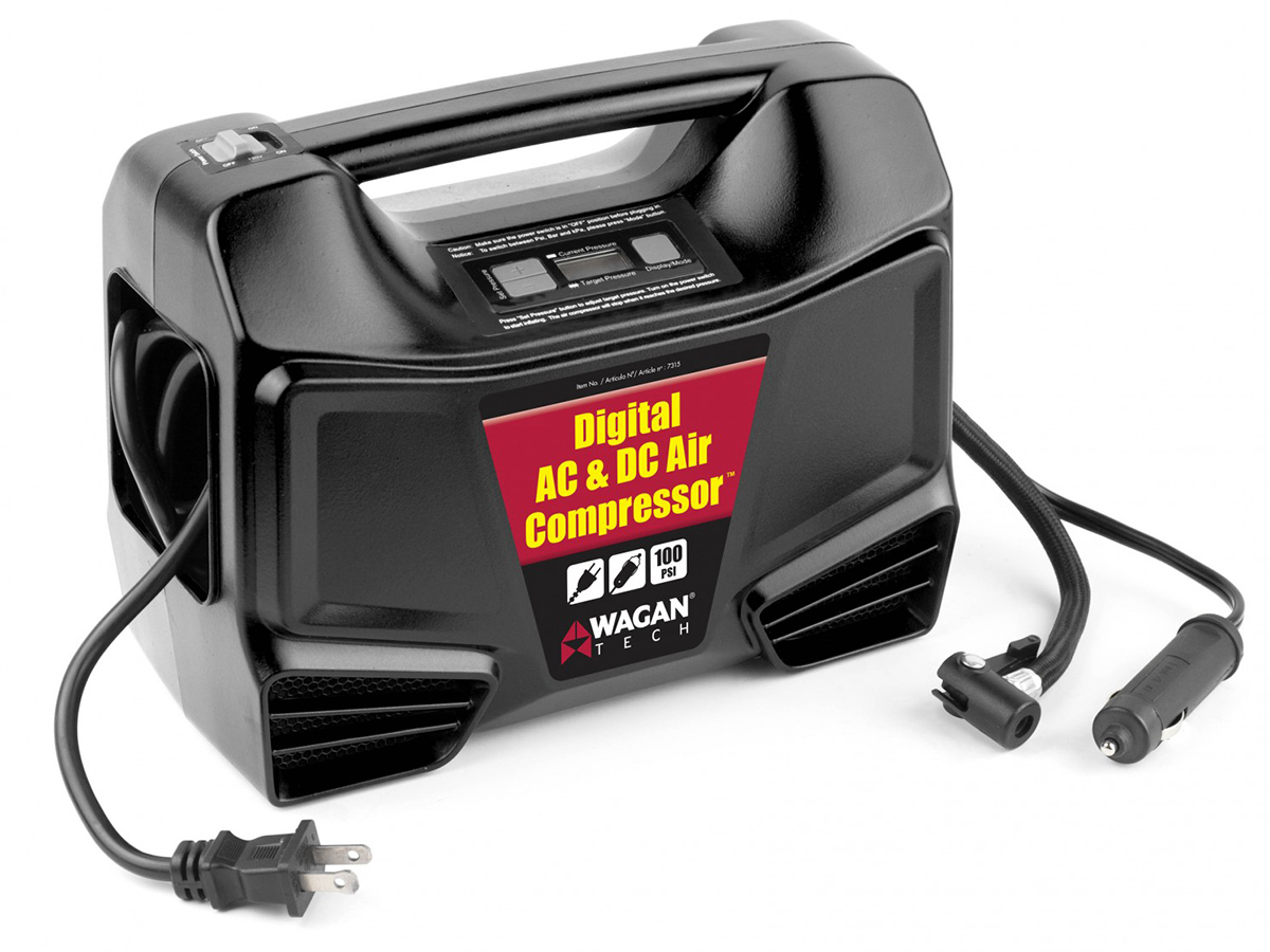 AC/DC Digital Air Compressor with cords out