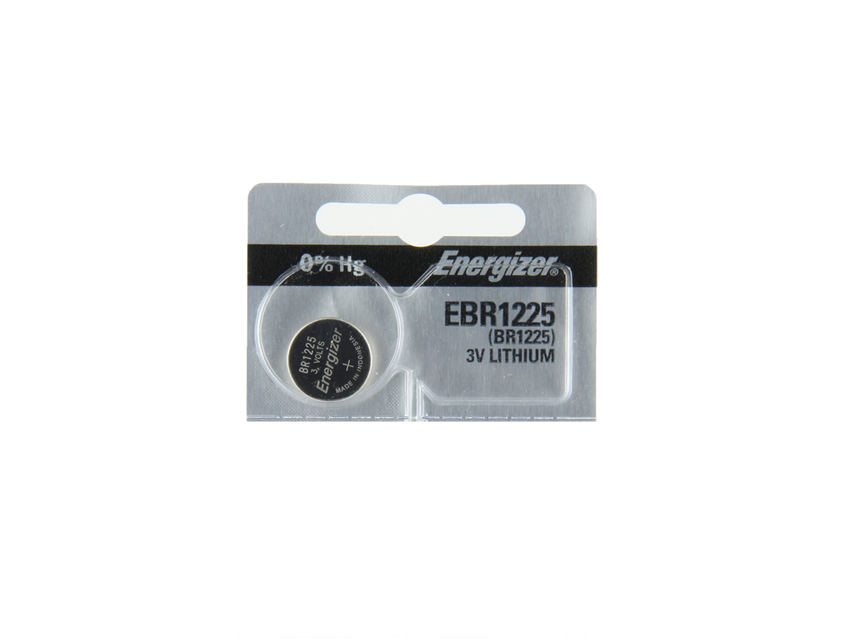 Energizer EBR1225 coin cell in 1 piece tear strip packaging