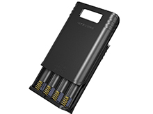 Nitecore F4 4-Bay Li-ion Battery Charger and Power Bank