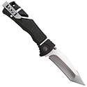 SOG Trident Elite Folding Knife - 3.7-inch Straight Edge, Tanto - Black TiNi (TF104) or Satin (TF103) Finish - Black Handle - Boxed