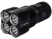 Nitecore Tiny Monster TM26 Quad Ray Flashlight - 4 x CREE XM-L2 LEDs - 4000 Lumens - Uses 4 x 18650s or 8 x CR123As