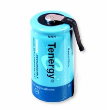 Tenergy 10203-C-cell 5000mAh 1.2V Nickel Metal Hydride (NiMH) Battery with Solder Tabs for Building Packs