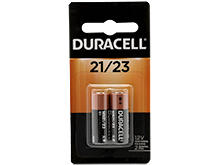 Duracell Security MN21-B2PK A23 21/23 12V Alkaline Button Top Batteries (MN21B2PK) - 2 Piece Retail Card