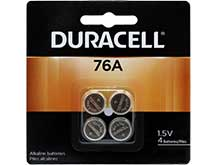 Duracell Medical PX76A LR44 1.5V Alkaline Button Cell Batteries - 4 Piece Retail Card