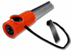 Survivor Firestarter with Orange Plastic Handle - 20,000 Strikes