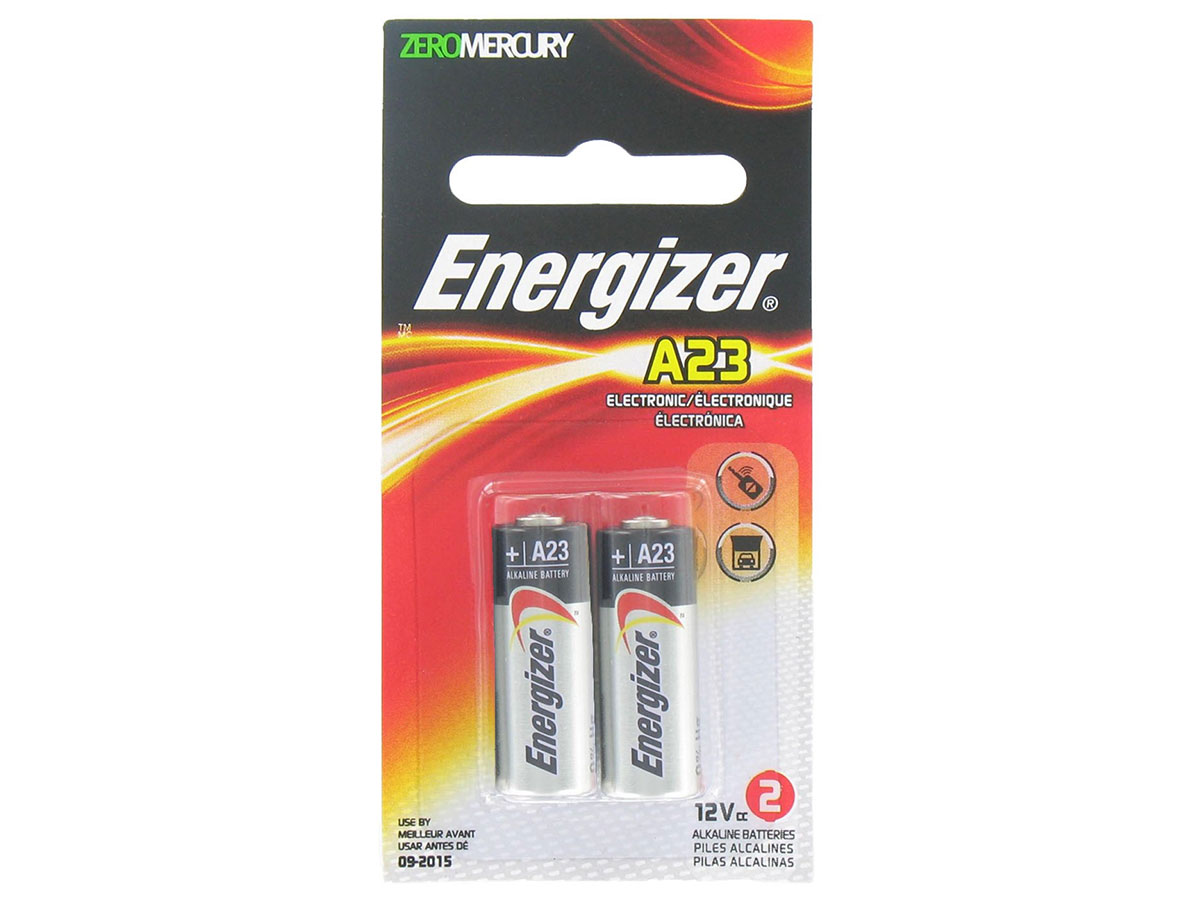 Energizer A23 battery in 2 piece retail card