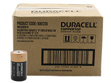 Duracell Coppertop Duralock MN1300 (72PK) D-cell Alkaline Button Top Batteries - Made in the USA - Box of 72