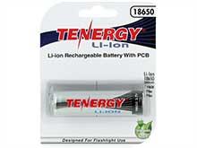 Tenergy 30049 18650 2600mAh 3.7V Protected Lithium Ion (Li-ion) Button Top Battery - Retail Card
