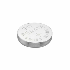 Renata 317 MP 10.5mAh 1.55V Silver Oxide Coin Cell Battery - 1 Piece Tear Strip, Sold Individually
