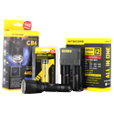 Nitecore Chameleon CB6 Blue Tactical Flashlight Combo - CREE XM-L2 and CREE XP-G2 R5 LED - 440 Lumens -  With Battery and Charger
