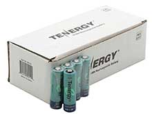 Tenergy 10308 AA (60PK) 2600mAh 1.2V Nickel Metal Hydride (NiMH) Button Top Batteries - Pack of 60