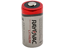 Rayovac RL123A CR123A 1400mAh 3V Lithium (LiMnO2) Button Top Photo Battery - Bulk