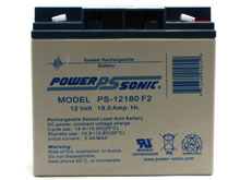 Power-Sonic AGM General Purpose PS-12180 18Ah 12V Rechargeable Sealed Lead Acid (SLA) Battery - F2 Terminal