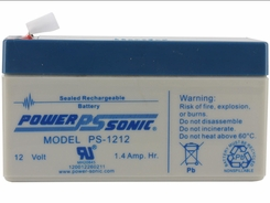 Power-Sonic AGM General Purpose PS-1212 1.4Ah 12V Rechargeable Sealed Lead Acid (SLA) Battery - F1 Terminal