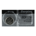 Energizer ECR1216 34mAh 3V Lithium (LiMnO2) Coin Cell Battery - 1 Piece Tear Strip, Sold Individually