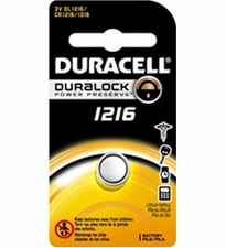 Duracell Duralock DL CR1216 30mAh 3V Lithium (LiMNO2) Watch/Electronic Coin Cell Battery - 1 Piece Retail Card