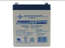 Power-Sonic AGM General Purpose PS-1250 5Ah 12V Rechargeable Sealed Lead Acid (SLA) Battery - F1 Terminal