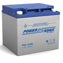 Power-Sonic AGM Deep Cycle PDC-12400 40Ah 12V Rechargeable Sealed Lead Acid (SLA) Battery - T6/B Terminal