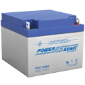 Power-Sonic AGM Deep Cycle PDC-12260 28Ah 12V Rechargeable Sealed Lead Acid (SLA) Battery - NB Terminal