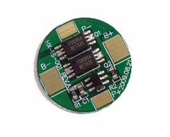Tenergy 32002 Protection Circuit Module (PCB) Round for 3.7V Li-Polymer Battery 3.5A Working (6A cut-off)