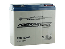 Power-Sonic AGM Deep Cycle PDC-12200 21Ah 12V Rechargeable Sealed Lead Acid (SLA) Battery - T12/B Terminal
