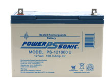 Power-Sonic AGM General Purpose PS-121000 100Ah 12V Rechargeable Sealed Lead Acid Battery - Universal Terminal
