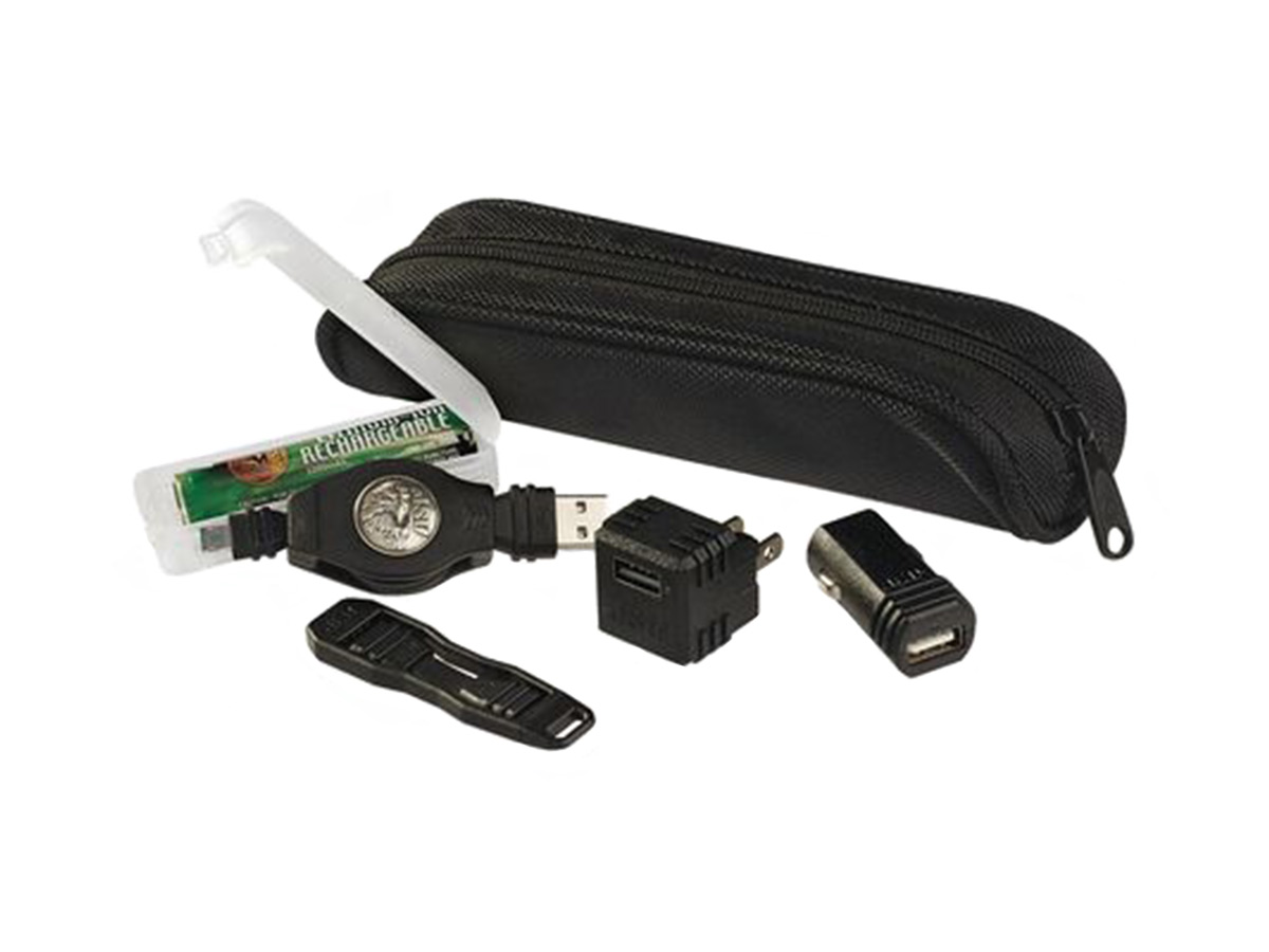 asp 18650 df charging kit, all components laid out