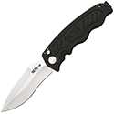 SOG Zoom Folding Knife - 3.6-inch Straight Edge, Drop Point - Black TiNi (ZM1012) or Satin (ZM1011) Finish - Black Handle or Carbon Fiber (ZM1018) - Boxed