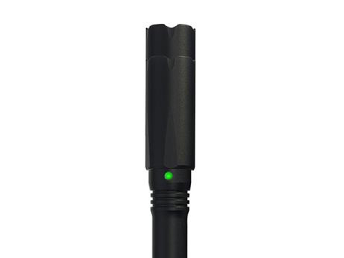 ASP Scribe DF with close up of LED battery indicator