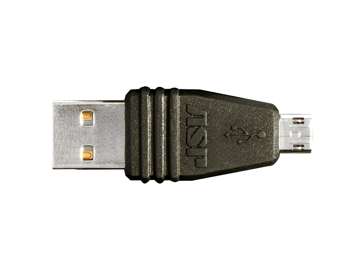 asp keystone, usb to micro usb adapter piece, no cord or device