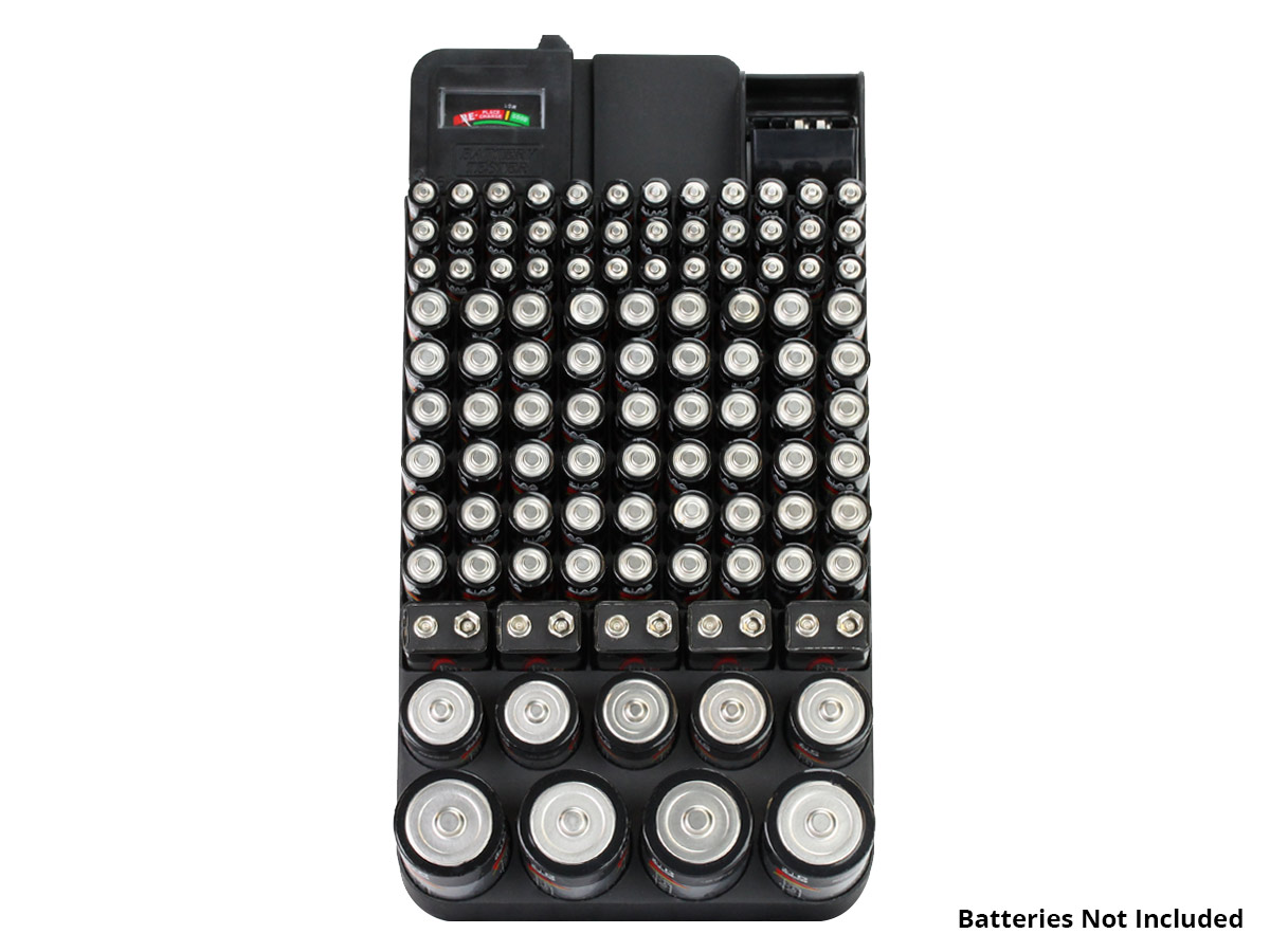 Battery Store Organizer with batteries
