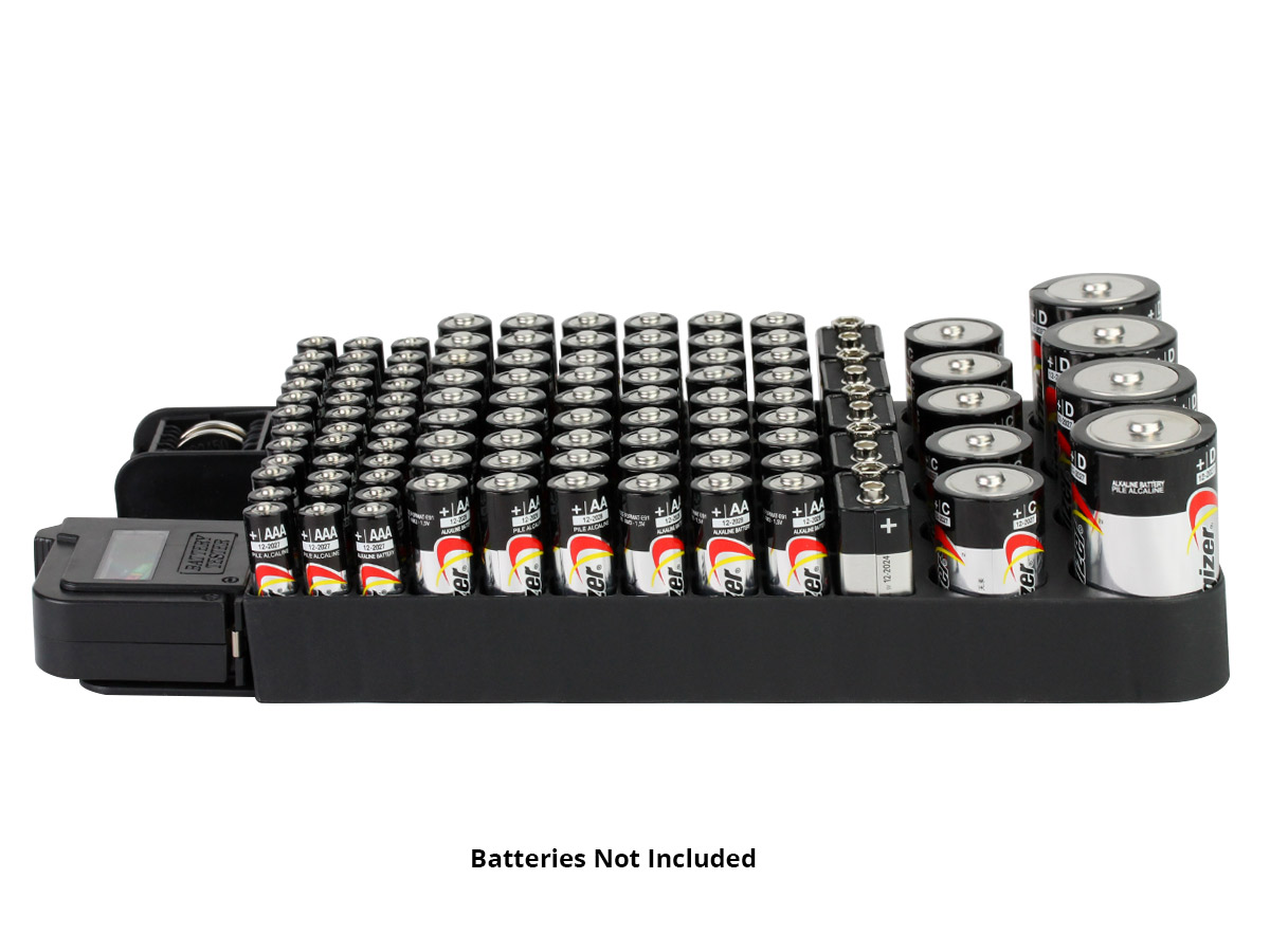 Battery Store Organizer horizontal view