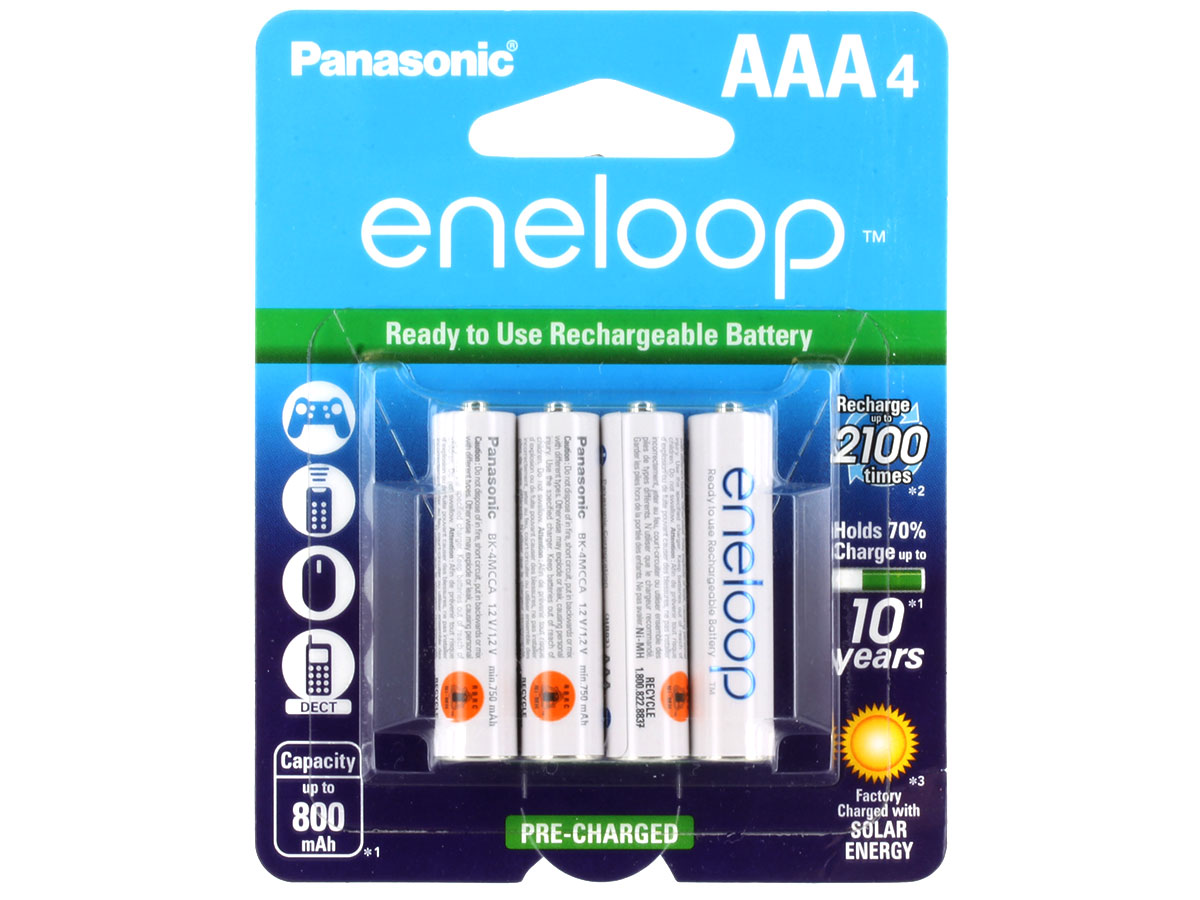 Example of AAA Eneloop Batteries