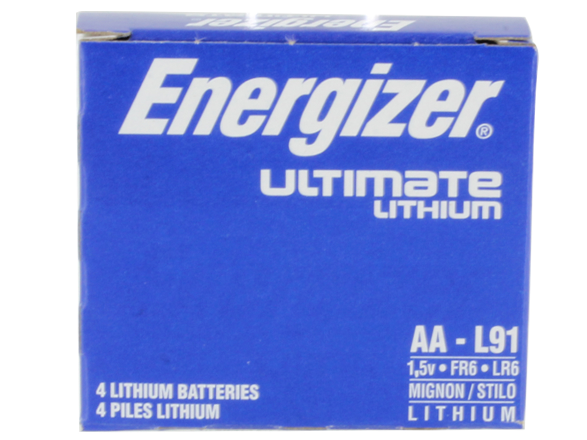 24-pack of Energizer Ultimate L91 AA batteries