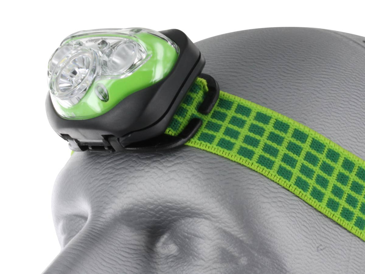 Energizer Vision HD+ Headlamp left side angle on head