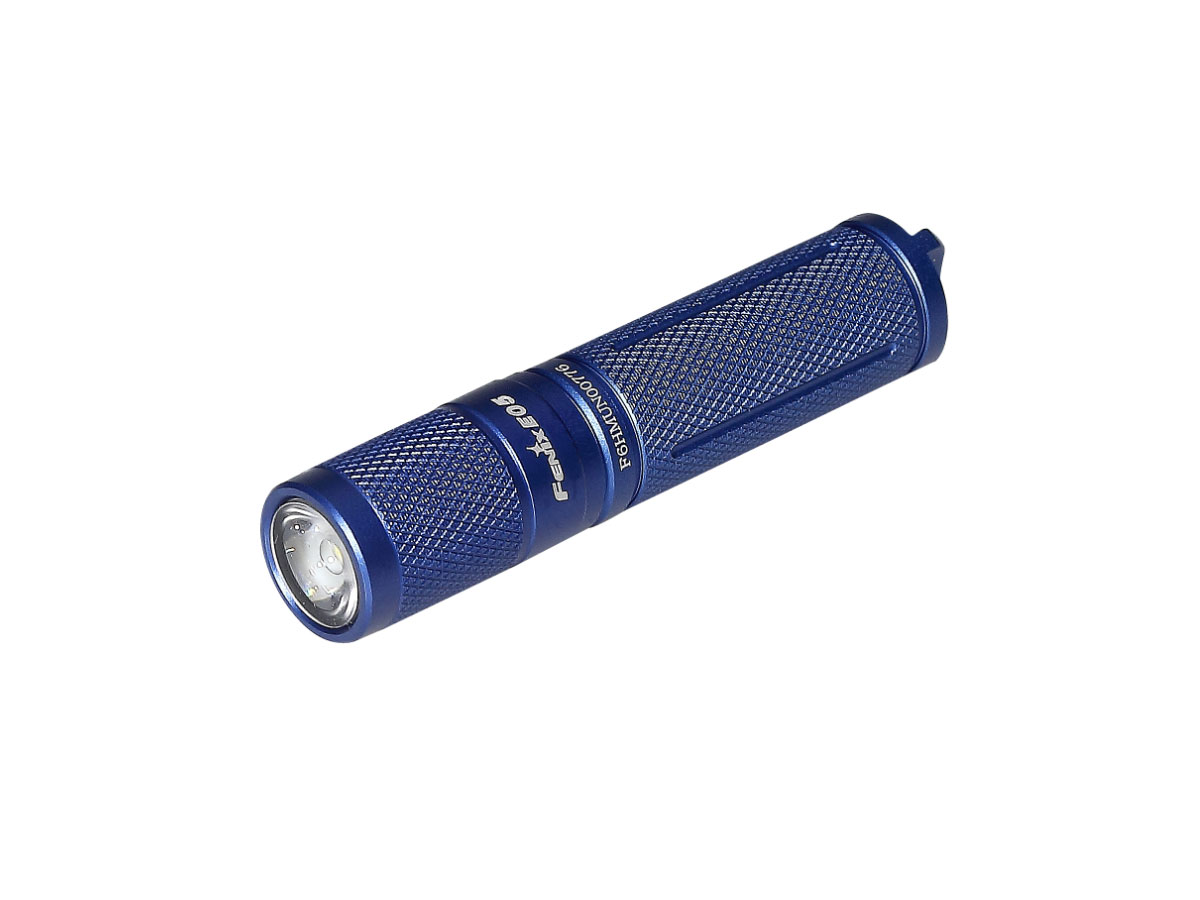 Front of packaging for Fenix E05 flashlight