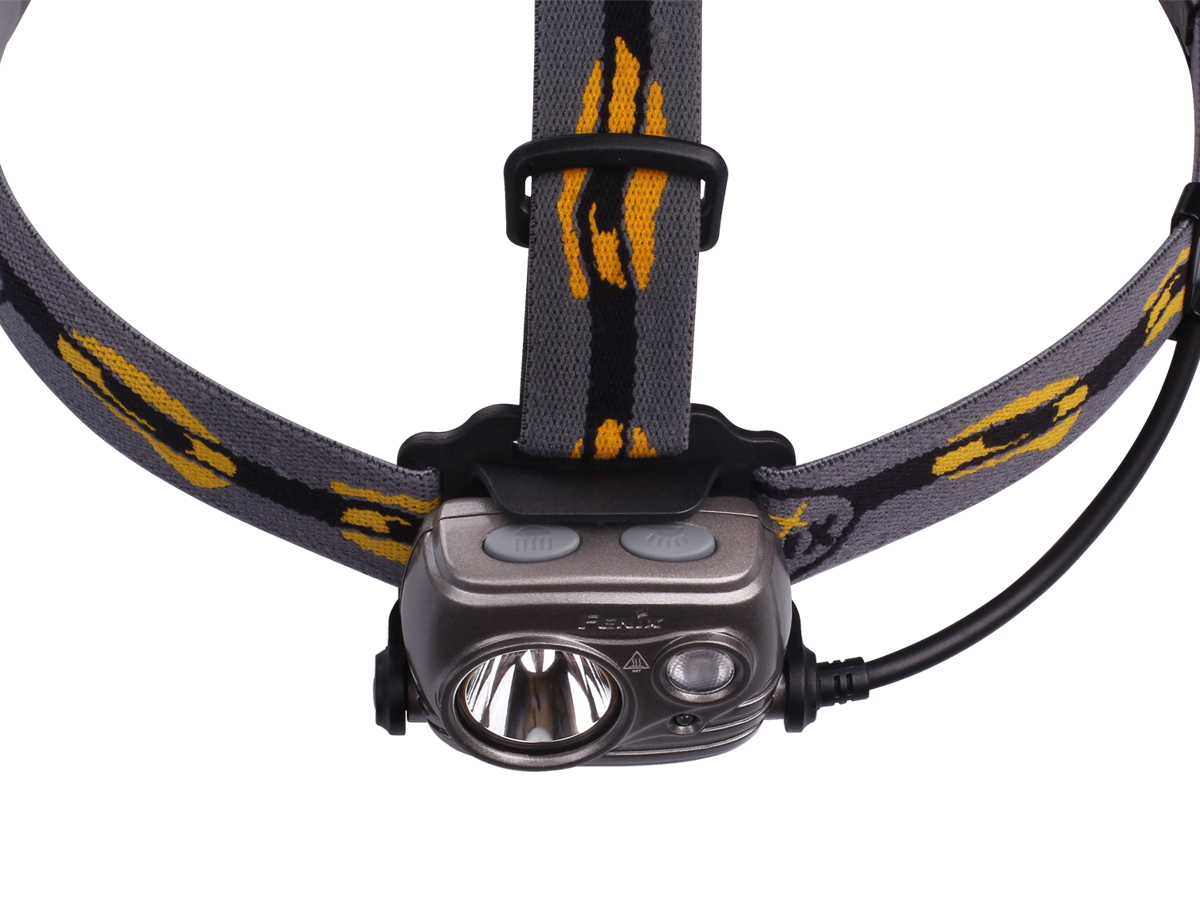 Top down view of Fenix HP25R headlamp