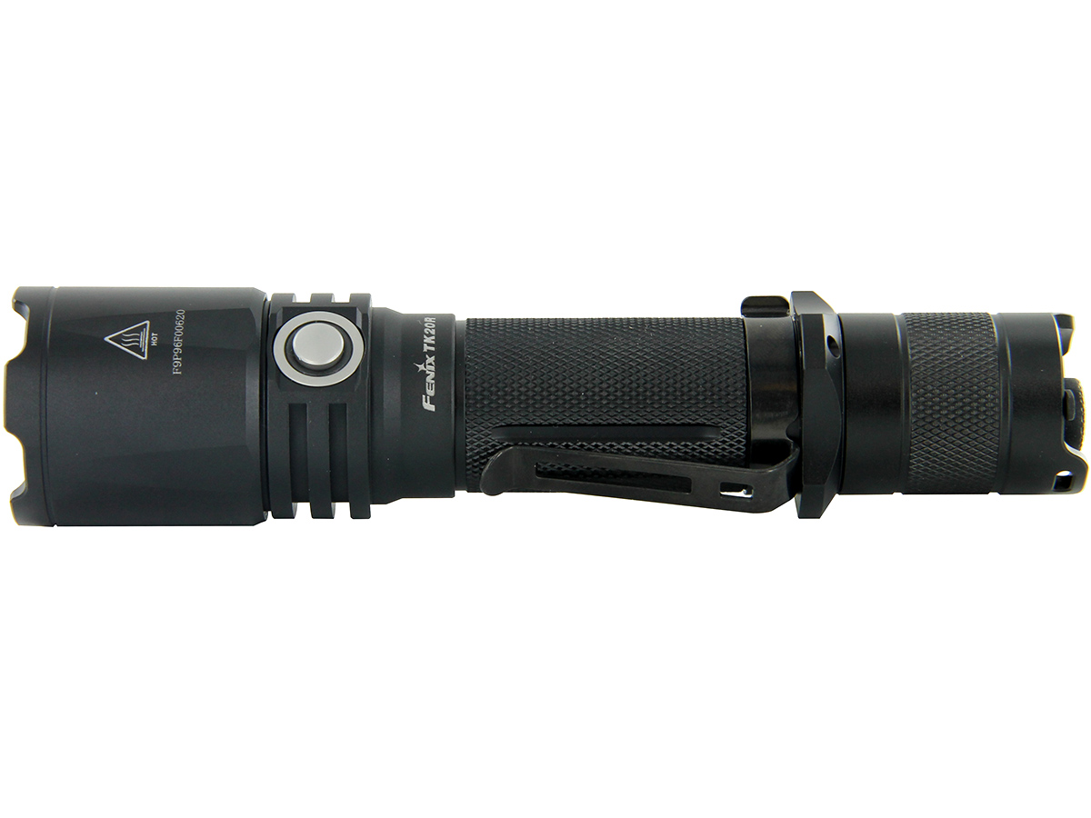 Fenix TK20R flashlight side profile