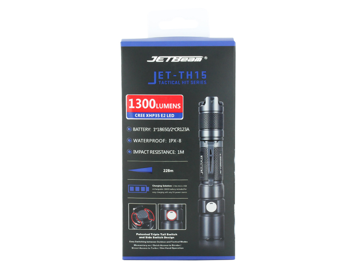 JETBeam TH15 retail box