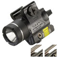 Streamlight TLR-4 Compact LED Weapon Light with Red Laser - Rail Locating Key Kit Fits Most Handguns or H&K USP Mounts - 125 Lumens - Includes 1 x CR2