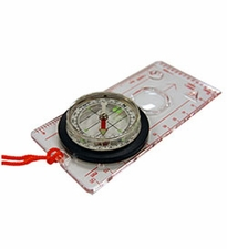 Ultimate Survival Technologies Deluxe Map Compass / Route Planning Tool - Liquid-Filled Compass with Measuring Scales - Clear (20-310-455C)