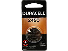 Duracell Duralock DL CR2450 620mAh 3V Lithium (LiMNO2) Watch/Electronic Coin Cell Battery - 1 Piece Retail Card