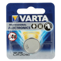 Varta Electronics 6016 CR2016 90mAh 3V Lithium (LiMNO2) Coin Cell Battery - 1 Piece Retail Card