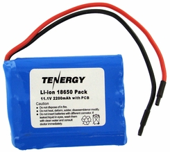 Tenergy 31012 Lithium Li-Ion 18650 11.1V 2200mAh Battery Pack